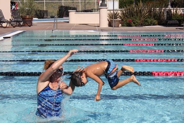 Fun with Our Swim Teacher Miss Hillary