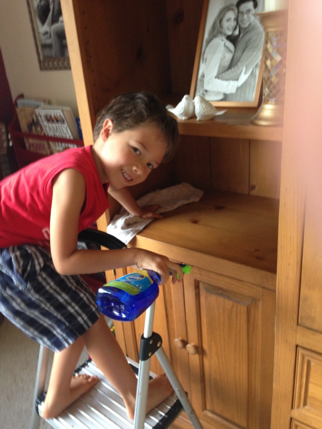Noah Doing Observe and Serve before School