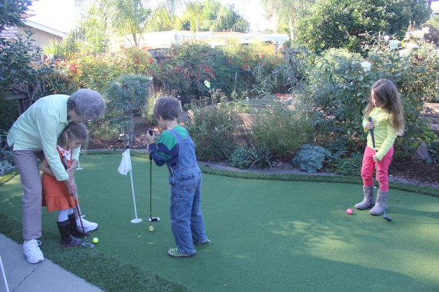 Sweet Karla Invited Us to Play on Her Putting Green