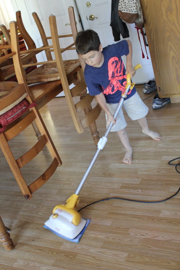Can I please mop mommy?