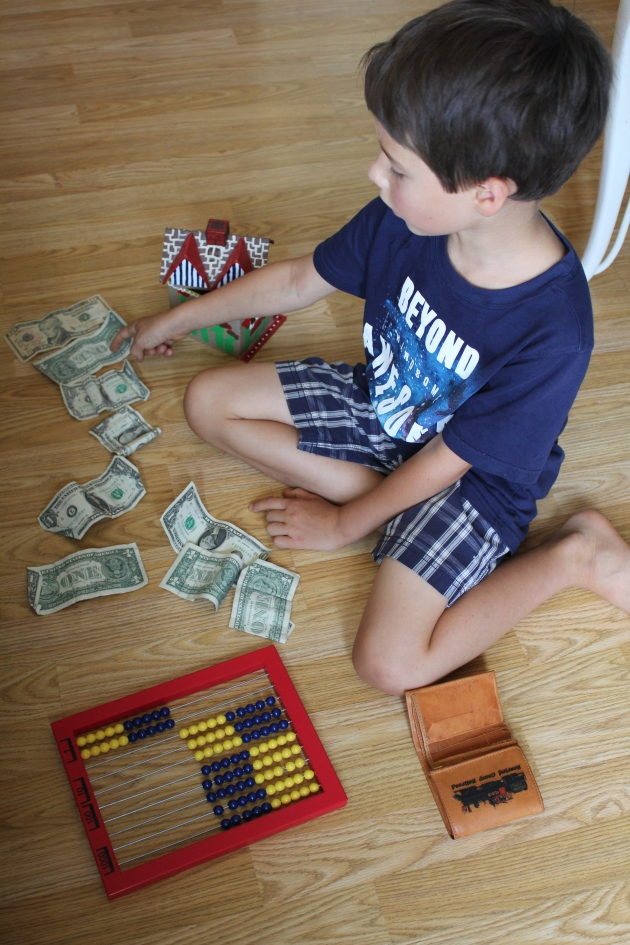 So engrossed in counting up for a big save (a $35 lego like train)